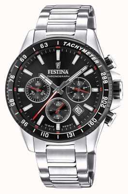 Festina Montre chronographe cadran noir en acier inoxydable F20560/6