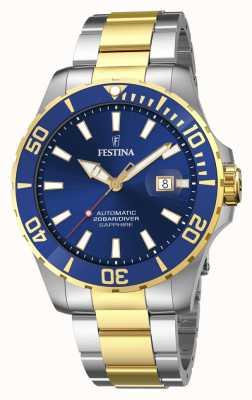 Festina Montre homme automatique à cadran bleu de 44 mm F20532/1