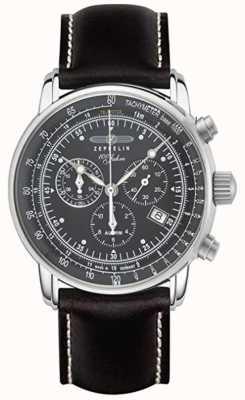 Zeppelin | série 100 ans | date du chronographe | bracelet en cuir noir 7680-2