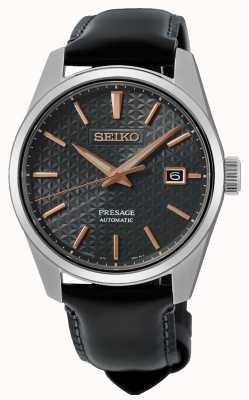 Seiko Bracelet en cuir série à bords tranchants Presage SPB231J1
