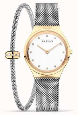 Bering Ensemble classique montre et bracelet en or poli pour femmes 12131-010-190-GWP1