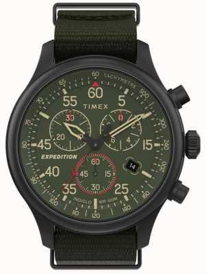 Timex Montre chronographe homme expédition champ cadran vert TW2T72800
