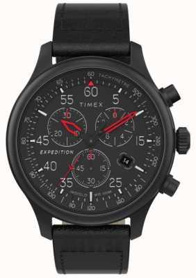 Timex Montre chronographe de champ d'expédition pour hommes à cadran noir TW2T73000