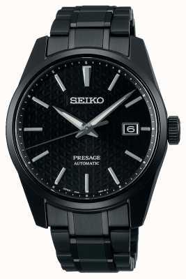 Seiko Montre monochrome noire série à bords tranchants Presage SPB229J1