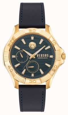 Versus Versace Bracelet en cuir bleu Versus dtla VSPZT0221