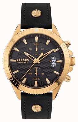 Versus Versace Bracelet en cuir noir Versus Griffith VSPZZ0221