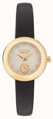 Versus Versace Versus lea petite extensi bracelet en cuir noir VSPZJ0221