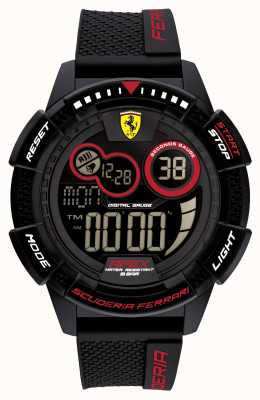 Scuderia Ferrari Bracelet en silicone noir ultrarapide Apex 0830856