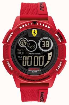 Scuderia Ferrari Bracelet en silicone rouge ultrarapide Apex 0830857