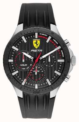 Scuderia Ferrari Bracelet en silicone noir double piste Pista 0830853