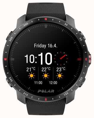 Polar Grit x pro noir montre dlc bracelet en caoutchouc synthétique 90085773