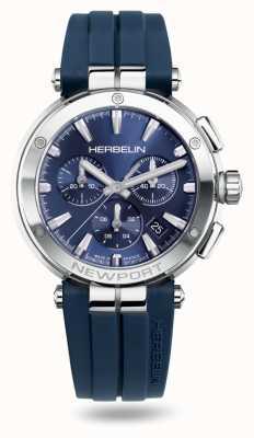 Michel Herbelin Bracelet caoutchouc Newport chrono bleu 37658/AP15CB