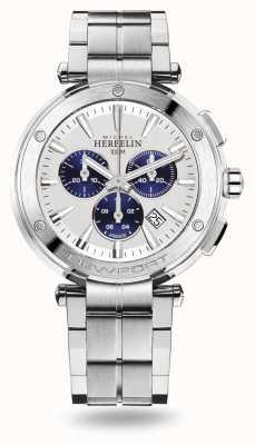 Michel Herbelin Bracelet Newport chrono en acier inoxydable 37688/B42