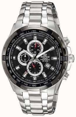 Casio Homme en acier inoxydable chronographe à cadran noir EF-539D-1AVEF