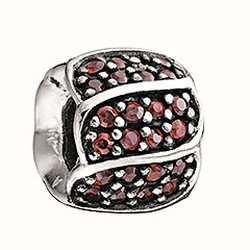 Chamilia Pétales rouge ornée de bijoux cz 2025-0620