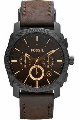 Fossil Mens montre la machine chronographe brun FS4656