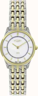 Rotary Montre bracelet à deux tons ultra-mince pour femme LB08001/02