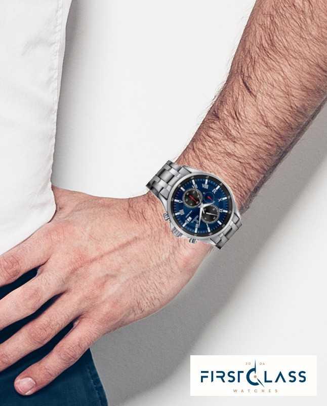 Affichage Bracelet Date Bleu Acier Festina En Chronographe Ygmf6y7Ivb