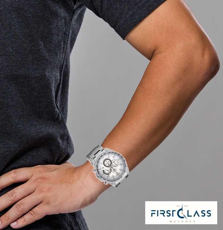Seiko Montre chronographe en acier inoxydable pour homme SSB297P1